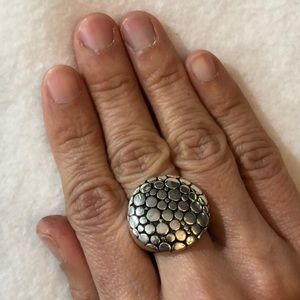 Jewelry - 925 Solid Sterling Silver Statement Hammered Ring